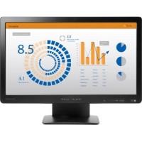 HP ProDisplay P202va Zwart 20 Inch Computer scherm Full HD 1920x1080 Resolutie